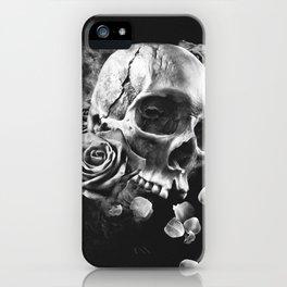 SKULL & ROSES III iPhone Case