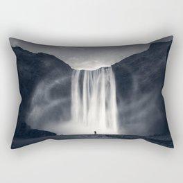 Stormy Skogafoss Rectangular Pillow