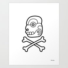 New Maya Skull Art Print
