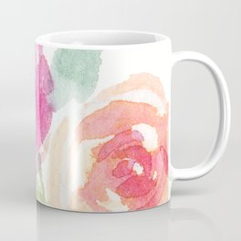 Pink and Orange Roses Coffee Mug