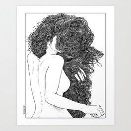 asc 590 - Le peigne (Combing her hair) Art Print