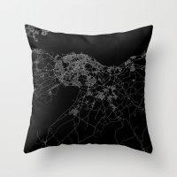 edinburgh Throw Pillows featuring Edinburgh by Line Line Lines