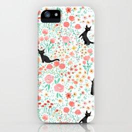 Lucky Cat Garden iPhone Case