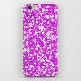 Dazzling Violet Pixels iPhone Skin