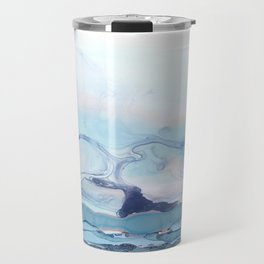 Indigo Abstract Painting | No.6 Travel Mug