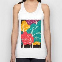 jazzberry Tank Tops featuring Happy Forest by Danny Ivan
