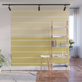 Two Tone Stripes - Yellow Wall Mural
