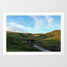The Sheep Bridge at Sunset Art Print