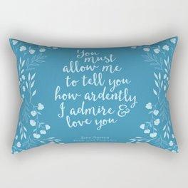 Jane Austen Pride and Prejudice Quote Rectangular Pillow
