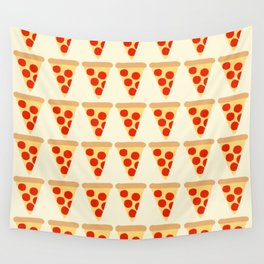 Pizza Slices Pattern Wall Tapestry