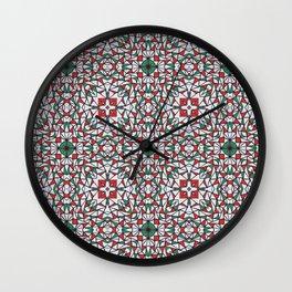 Doodle Pattern 16 Wall Clock