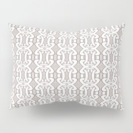 Grey Interlock Pattern Pillow Sham
