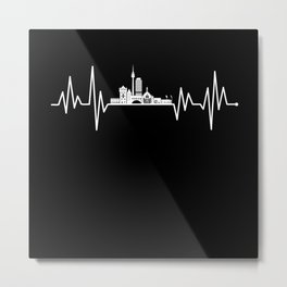 Nürnberg Skyline Heartbeat Metal Print