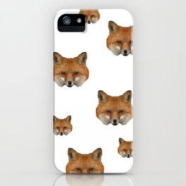 Geometrical Red Fox iPhone Case