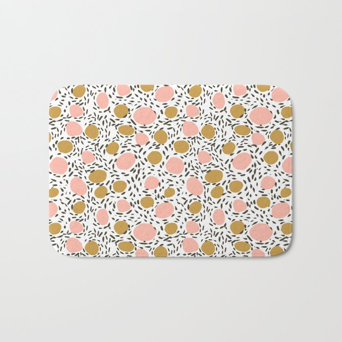 Pebbles cute pattern gender neutral dorm college abstract design minimal modern earth nature Bath Mat