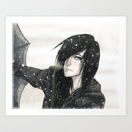 winter kiss Art Print