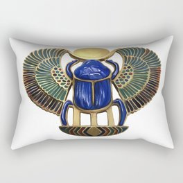 Painted Egyptian Necklace Rectangular Pillow