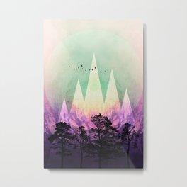 TREES under MAGIC MOUNTAINS VII Metal Print