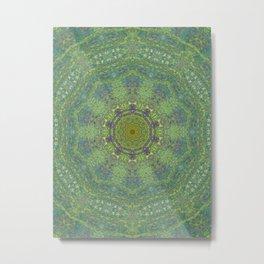 liquid green mandala? Metal Print