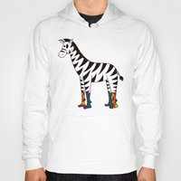 socks Hoodies featuring Zebra Socks by Kendra Blinde