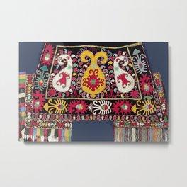 Lakai Tribal Nomad Antique Uzbekistan Horse Cover Metal Print