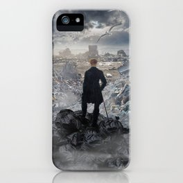Wanderer above the Sea of Trash iPhone Case