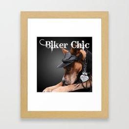 Biker Chic Framed Art Print