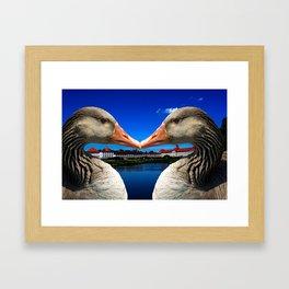 Munich in love Framed Art Print