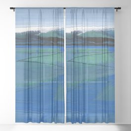 Journey 375B by Kathy Morton Stanion Sheer Curtain