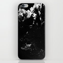Black Marble #9 #decor #art #society6 iPhone Skin