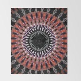 Rustic Mandala Design Throw Blanket