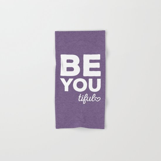 Be-You-Tiful Positive Quote Hand & Bath Towel