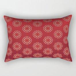 Red Star Mandala Pattern Rectangular Pillow
