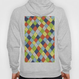 Doodle style bright hand drawn harlequin pattern. Hoody