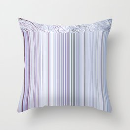 Violet winter glitches Throw Pillow