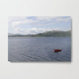 Red Boat on the Loch Metal Print