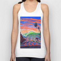 psychadelic Tank Tops featuring  Surf Art Psychadelic  by Surf Art Gabriel Picillo