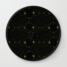 chain of flowers Wall Clock