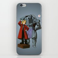 fullmetal alchemist iPhone & iPod Skins featuring Alchemist of Steel by CromMorc