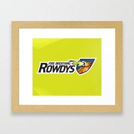 Fire Breathing Rowdys Full Logo Framed Art Print