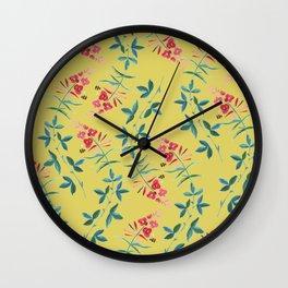 Floral Vines Wall Clock