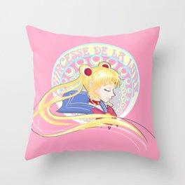 Princesse De La Lune Throw Pillow
