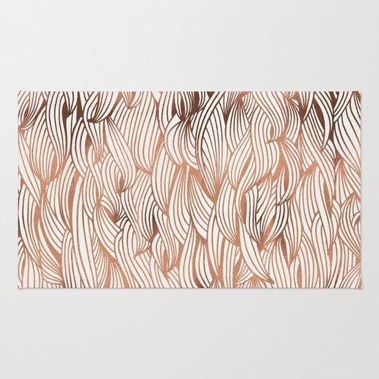 Rose Gold Waves Rug
