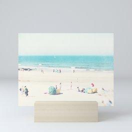 beach - happy life Mini Art Print