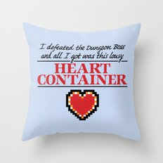 Lousy Heart Container Throw Pillow