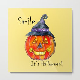 Smile, it's Halloween! Metal Print