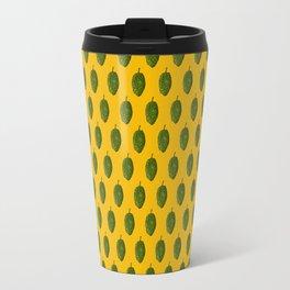 Hops Orange Pattern Travel Mug
