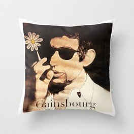 I Love you Gainsbourg... Throw Pillow