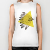 headdress Biker Tanks featuring headdress by morgan kendall