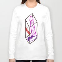 penis Long Sleeve T-shirts featuring Fragile (Penis in a Box) by FABIO MIGGIANO_H13